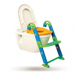 Asiento para WC con escalón reposapiés ajustable